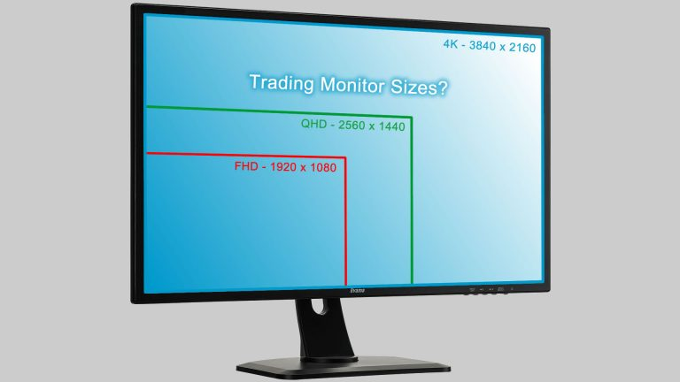 Image of monitor with FHS, QHD and 4K resolutions indicated.